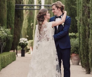 antoine griezmann, wedding, and couple image