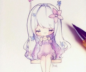 chibi, draw, and drawing image