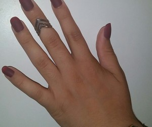 girl, nails, and purple image