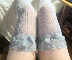 blue, legs, and lace image