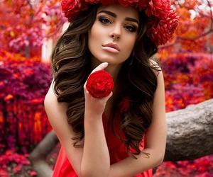 beautiful, red, and spring image