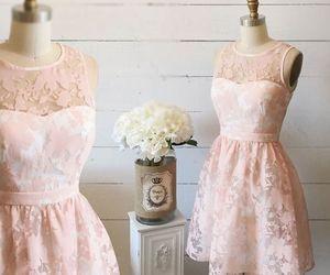 dress, feminine, and lace image