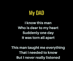 happy fathers day, Fathers Day, and daddy poem image