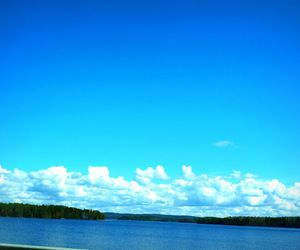 blue, clouds, and scenery image