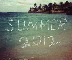 summer, 2012, and beach image