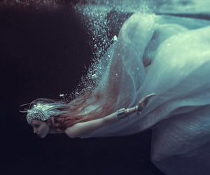 water, art, and dress image