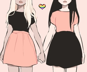 girl, lesbian, and lgbt image