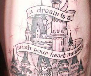 tattoo, disney, and Dream image