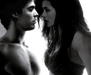delena, the vampire diaries, and love image