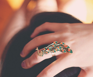 peacock and ring image
