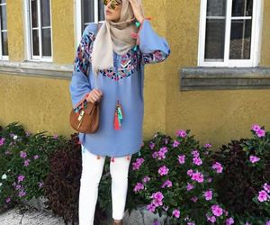 hijab, ootd, and spring image