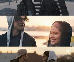 couple, skam, and soulmates image