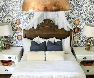 bedroom, country home, and home decor image