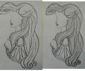 ariel, disney, and draw image