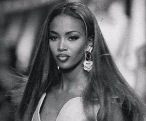 model, Naomi Campbell, and 90s image