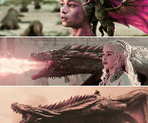 dragons, game of thrones, and emilia clarke image
