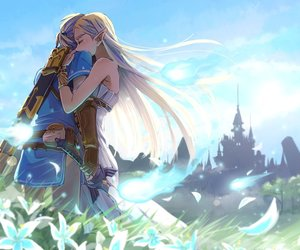 breath of the wild, couple, and link image