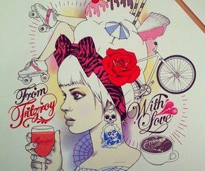 tattoo, art, and illustration image