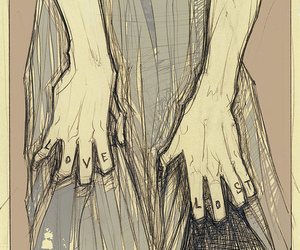 drawing, fingers, and hands image