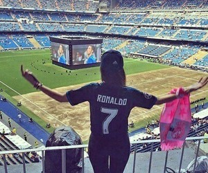 real madrid, football, and girl image
