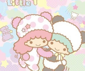 sanrio, wallpaper, and little twin star image