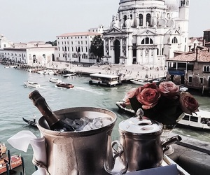 travel, flowers, and drink image