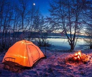 camping, night, and travel image
