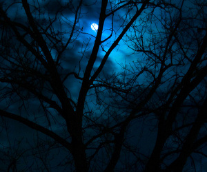moon, beautiful, and blue image