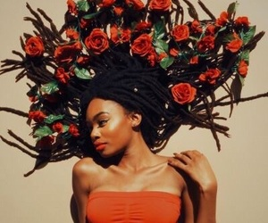 dreads and flowers image
