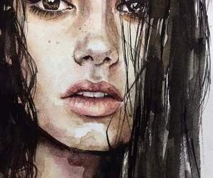 art, painting, and lily collins image