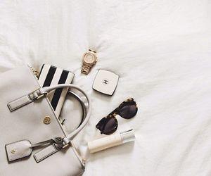 content, handbag, and flatlay image