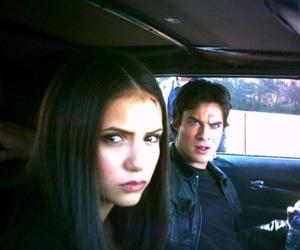 Nina Dobrev, the vampire diaries, and ian somerhalder image