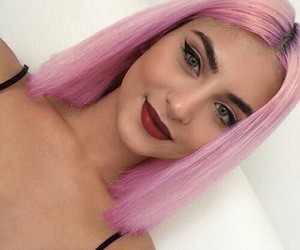 beautiful, color, and pink hair image