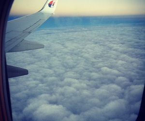 clouds, fly, and high image