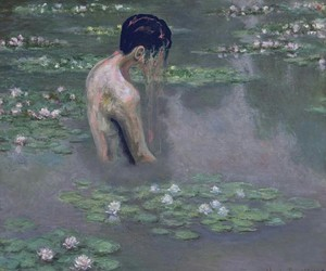 art, water lily, and artist image