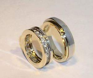 gold, wedding, and rings image