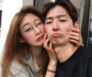 couple, korean, and love image