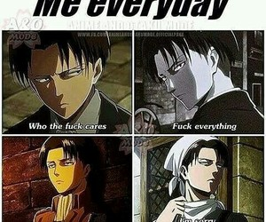 levi, anime, and snk image