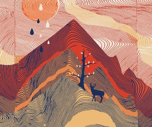 abstract, sunrise, and threadless image