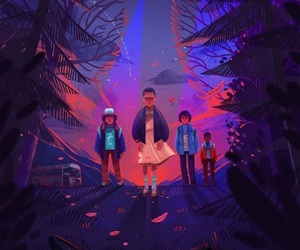 stranger things, eleven, and illustration image