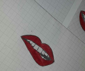 drawed, girly, and lipstick image