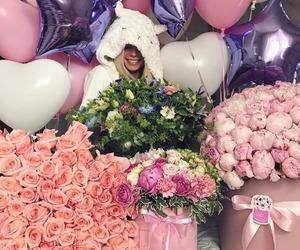 birthday, celebration, and flowers image