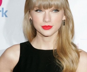 black, long hair with bangs, and red era image