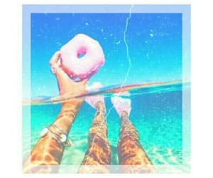 summer, donuts, and beach image