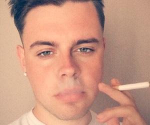 boy, cigarette, and eyes image