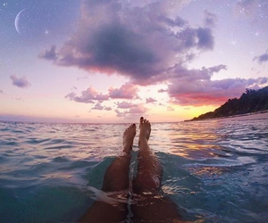 summer, beach, and sunset image