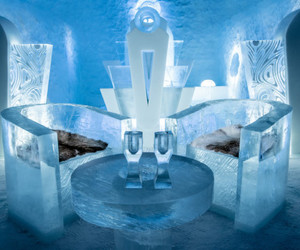 wanderlust, ice hotel, and cold room image