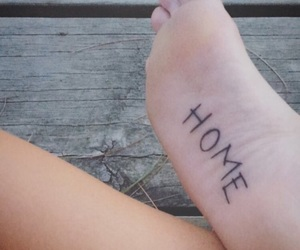foot, home, and tattoo image
