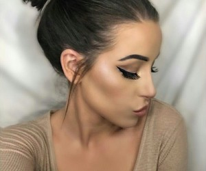 brown and make up image