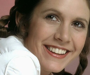 carrie fisher, leia, and smile image